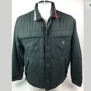 Tommy Hilfiger Green Jacket Flag Quilted Lining